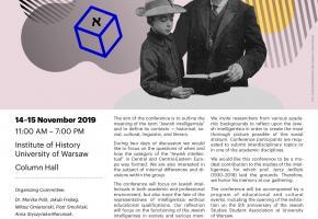 Warsaw. The Jewish Intelligentsia – The 8th International Conference for Jewish Studies Researchers