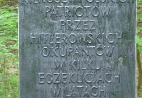Lasek Dębiński - miejsce egzekucji