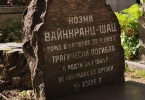Grób Noemi Wajnkranc-Szac na cmentarzu przy ul. Ogrodowej