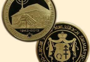09.07.2012 - wydano numizmaty upamiętniające 70 rocznicę Zagłady siemiatyckich Żydów
