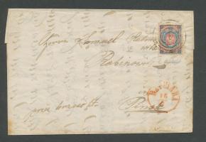 List w jidysz ze znaczkiem Polska nr 1 (1860)