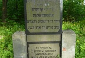 Cmentarz żydowski - miejsce egzekucji i pochówku ofiar Zagłady