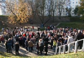 Minsk. Commemoration of the 75th anniversary of the liquidation of the ghetto.