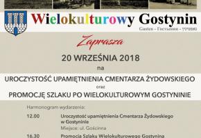 Gostynin. Upamiętnienie cmentarza oraz inauguracja szlaku turystycznego