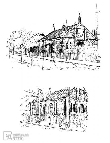 Giżycko. Synagoga, między 1901 i 1915 r. oraz w 1938 r.