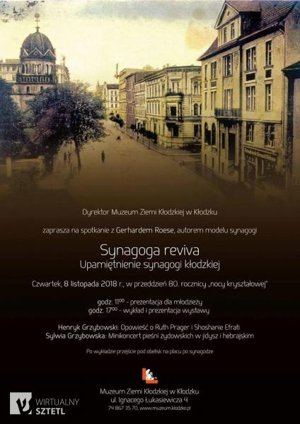 Kłodzko. Plakat wydarzenia Synagoga Reviva (2018)